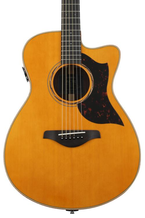 Yamaha AC3R Concert Acoustic-Electric with Cutaway - Vintage Natural image 1