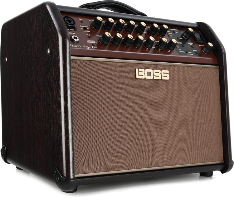 boss acoustic singer live 60 watt bi amp acoustic combo with fx sweetwater. Black Bedroom Furniture Sets. Home Design Ideas