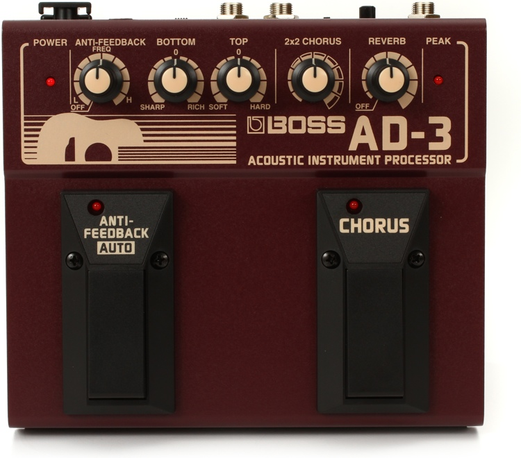 Boss AD-3 Acoustic Instrument Effects Processor image 1