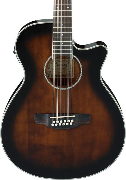 Ibanez AEG1812II 12-string - Dark Violin Sunburst image 1