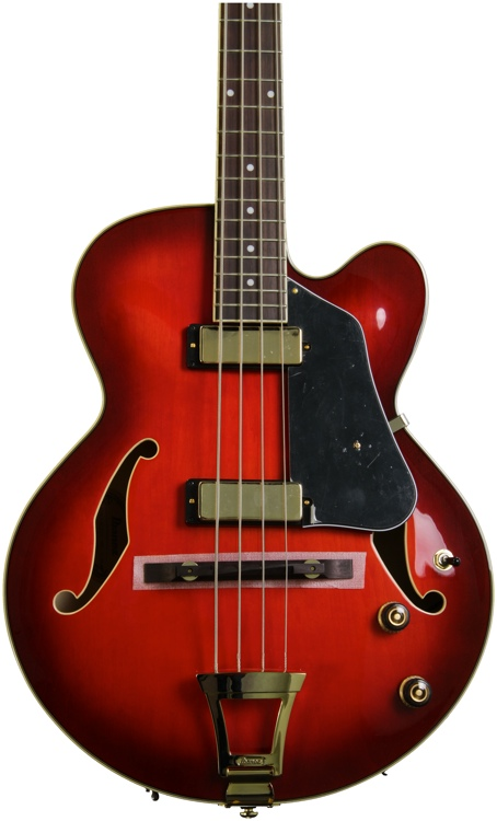 Ibanez AFB200 4-string Bass - Sunset Red image 1
