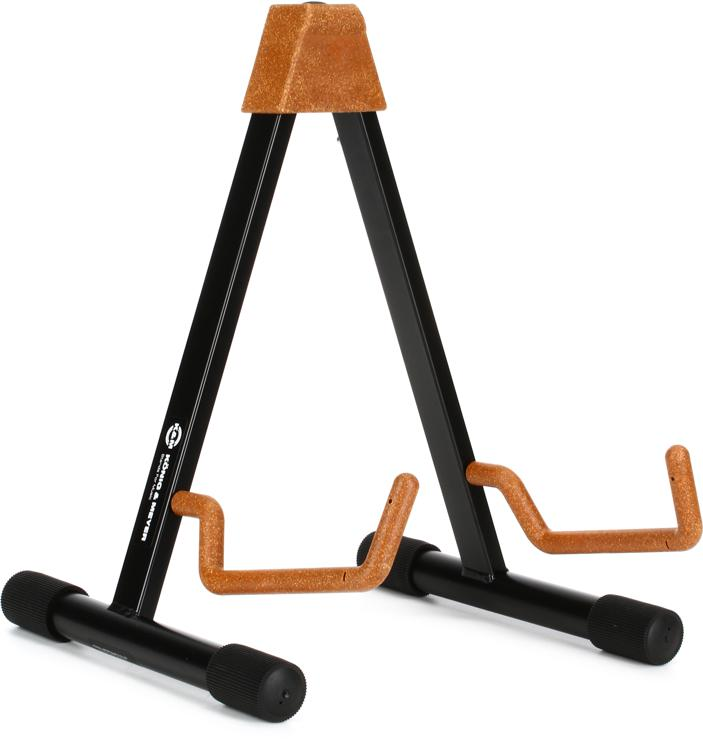K&M 17541 A-Frame Guitar Stand - Acoustic, Cork image 1