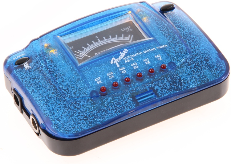 Fender Accessories AG-6 Blue Sparkle Guitar Tuner image 1