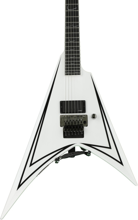 ESP LTD ALEXI-600 SCYTHE - White with Black Stripe image 1