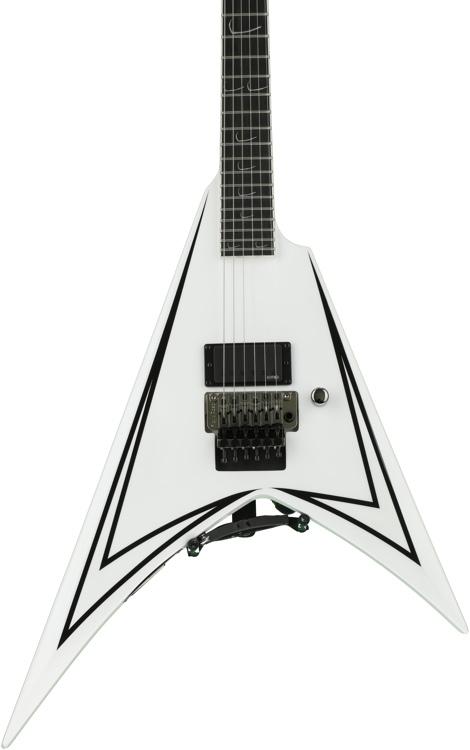 ESP LTD ALEXI-600 SCYTHE - White with Black Stripe image 1