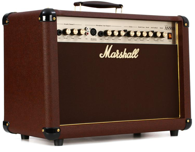 marshall as50d 50 watt 2x8 2 channel acoustic combo brown sweetwater. Black Bedroom Furniture Sets. Home Design Ideas