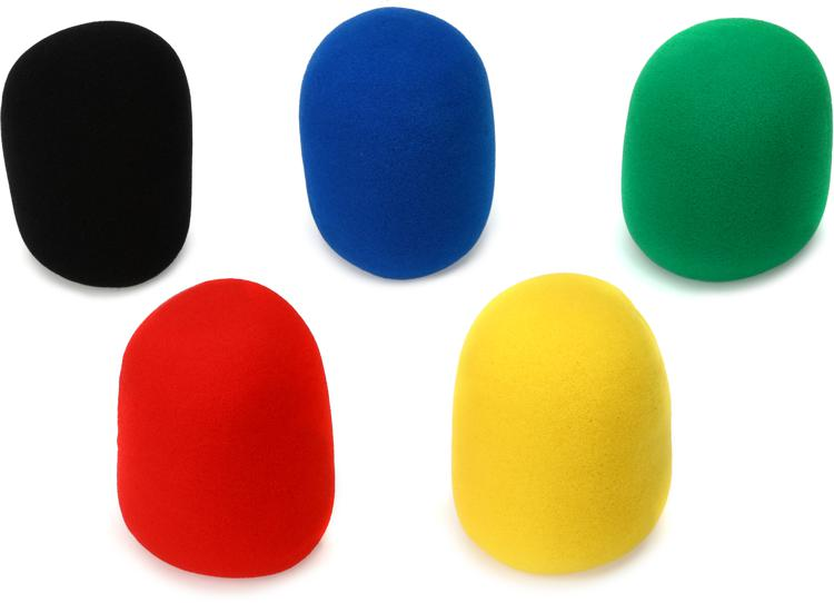 On-Stage Stands ASWS58C5 Windscreen 5-pack - Multicolor image 1
