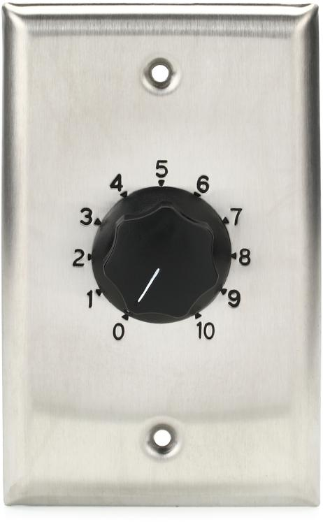Atlas Sound AT10 Volume Control - Stainless Steel, Single Gang image 1