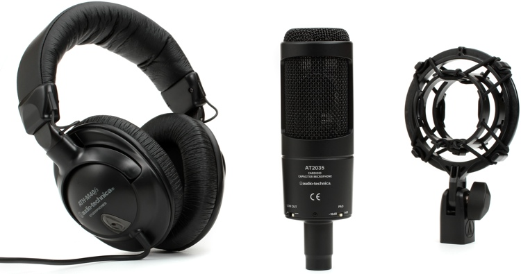 Audio-Technica AT2035 with ATH-M40fs - Bundle image 1