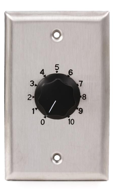 Atlas Sound AT35 Volume Control - Stainless Steel, Single Gang image 1
