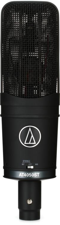 audio technica at4050st stereo large diaphragm condenser microphone