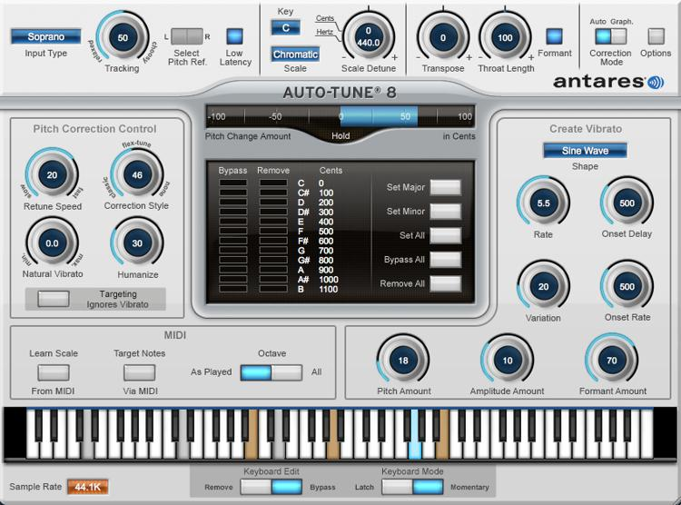 Antares Auto-Tune 8 - Upgrade from Auto-Tune 7 Native (download) image 1