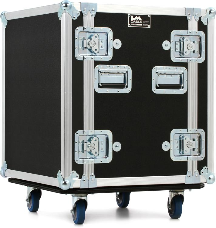 LM Cases 12U Deep Rack Case with Wheels image 1