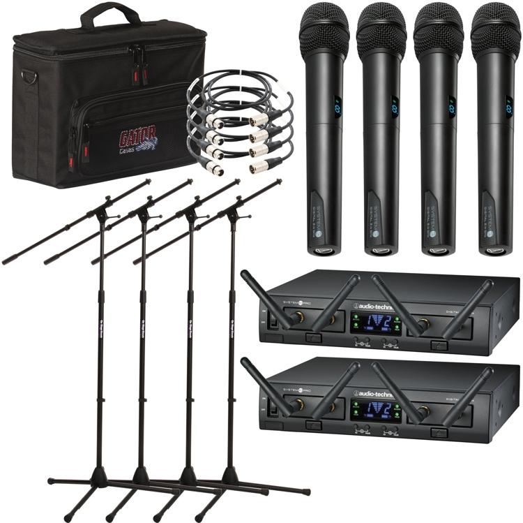 Audio-Technica System 10 PRO 4-pack Handheld Wireless Bundle image 1