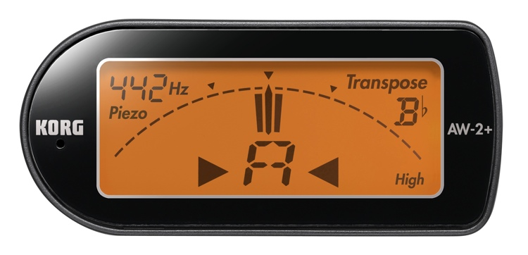 Korg AW2+ Compact Clip-On Instrument Tuner image 1