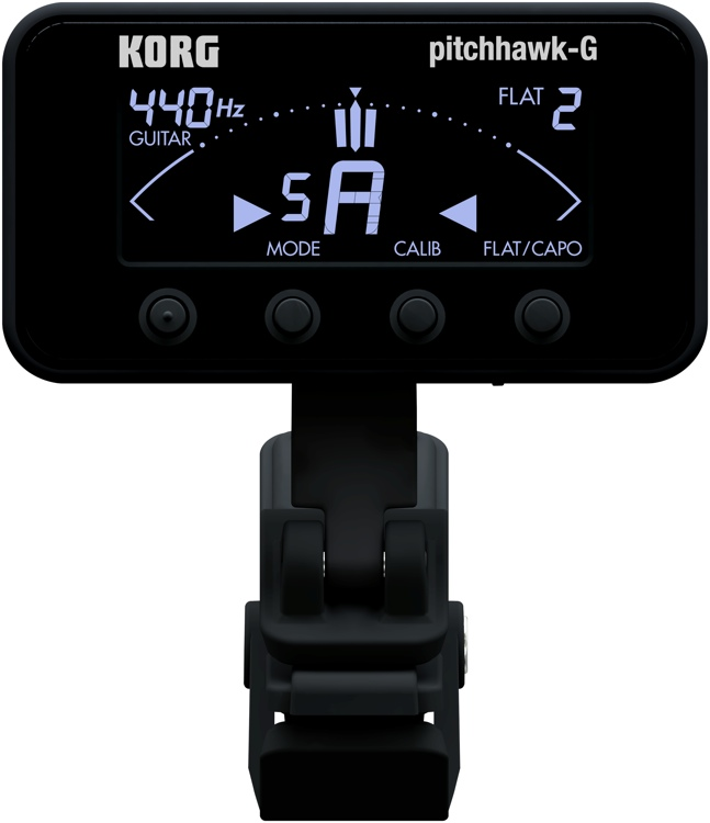 Korg PitchHawk-G Compact Clip-On Instrument Tuner image 1