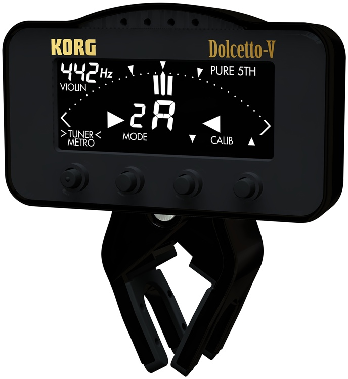 Korg AW3V Dolcetto Clip On Tuner/Metronome for Violin/Viola image 1