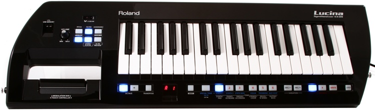 Roland Lucina AX-09 37-Key Keytar Synthesizer - Black Sparkle image 1