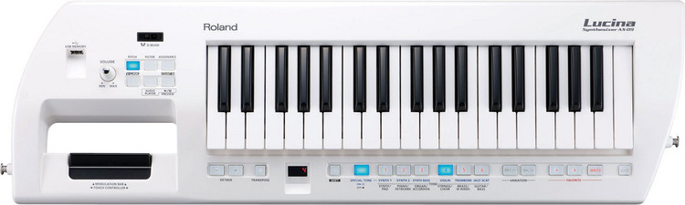 Roland Lucina AX-09 37-Key Keytar Synthesizer - Pearl White image 1