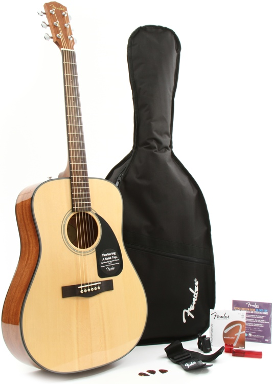 Fender DG-8S Acoustic Guitar Pack - Natural image 1