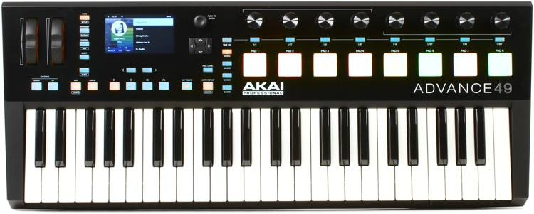 akai professional advance 49 keyboard controller sweetwater. Black Bedroom Furniture Sets. Home Design Ideas