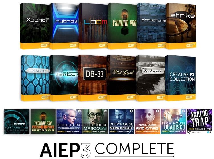 AIR AIEP3 Complete Instrument Pack 3.0 Virtual Instrument Plug-in Bundle image 1