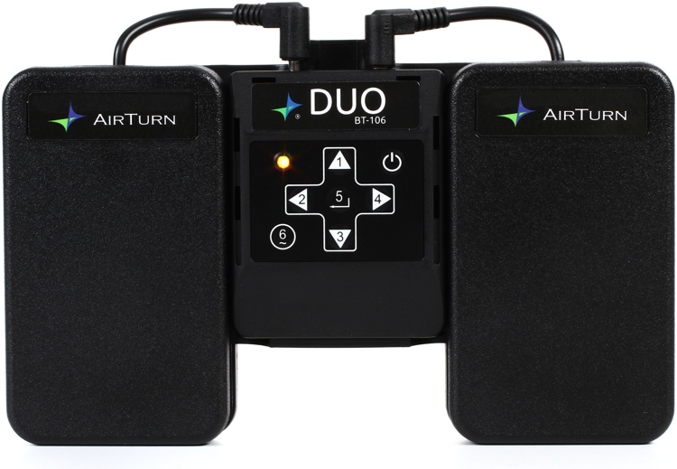 AirTurn Duo BT106 Transmitter with 2 Pedals image 1
