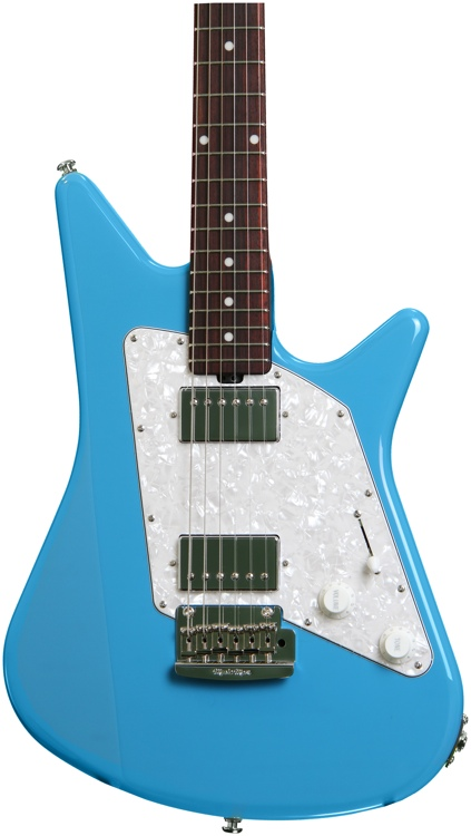 Ernie Ball Music Man Albert Lee HH - Diego Blue, All Rosewood Neck image 1