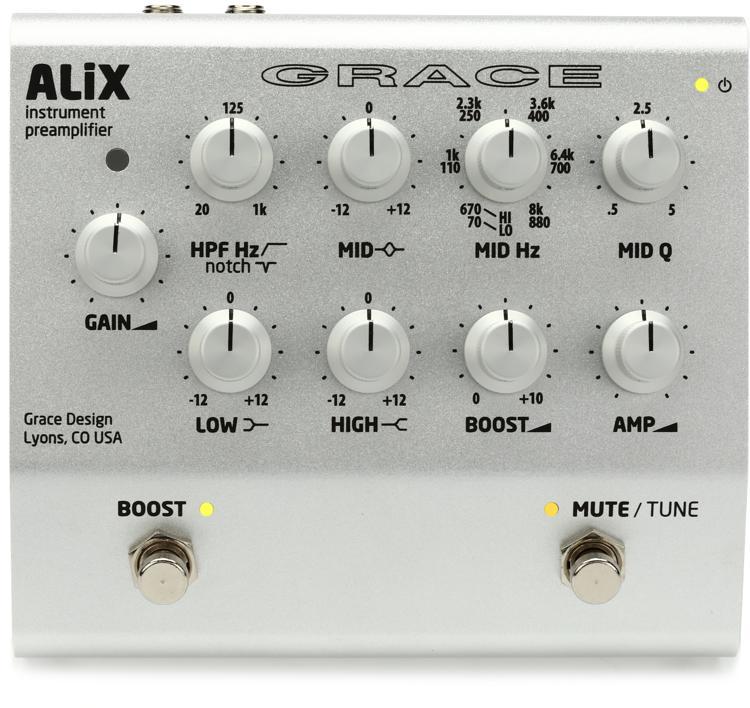 Grace Design ALiX Acoustic Instrument Preamp / EQ / DI / Boost Pedal image 1