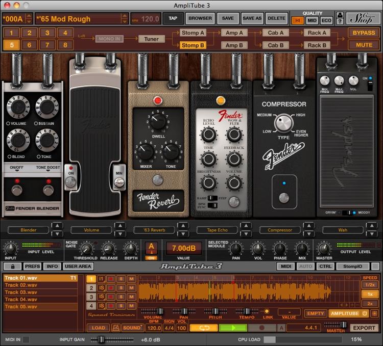 IK Multimedia AmpliTube Fender Software Suite image 1
