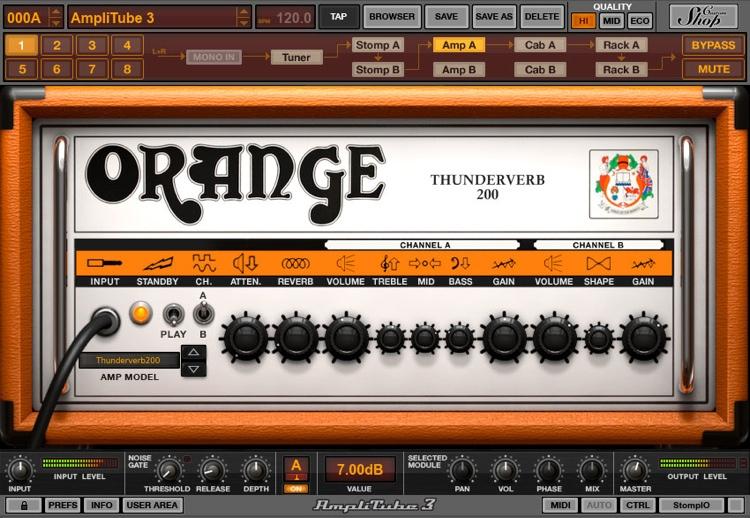 IK Multimedia AmpliTube Orange Software Suite image 1