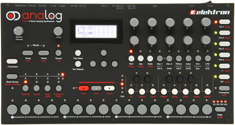 Elektron Analog Four 4-voice Analog Synthesizer with Sequencer image 1