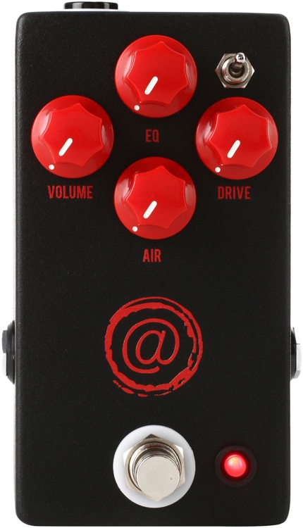 JHS AT (Andy Timmons) Drive Pedal - Exclusive Black with Red Logo image 1