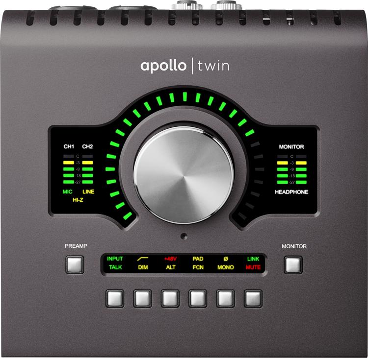 universal audio apollo twin mkii duo 2x6 thunderbolt audio interface with uad dsp sweetwater. Black Bedroom Furniture Sets. Home Design Ideas
