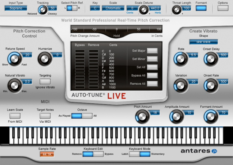 antares auto tune live pitch correction plug in sweetwater
