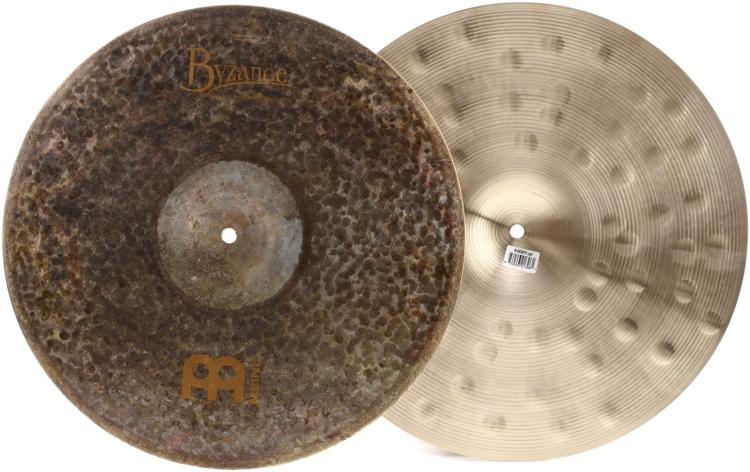 Meinl Cymbals Byzance Extra Dry Medium Thin Hi Hat Pair - 16