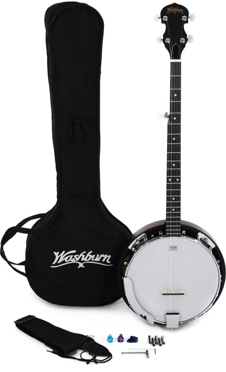 Washburn B8 Banjo Pack - Natural image 1