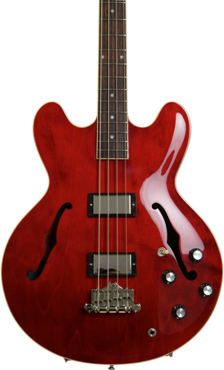 Gibson Memphis ES-335 Bass - Vintage Faded Cherry image 1