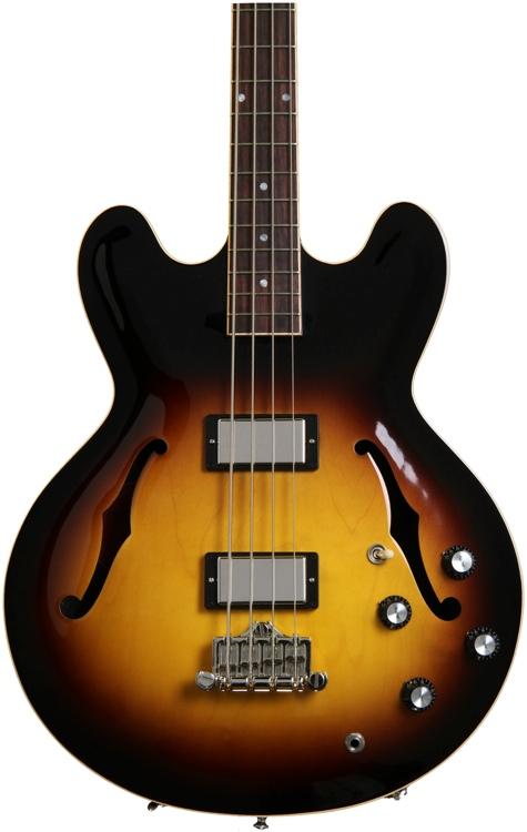 Gibson Memphis ES-335 Bass - Vintage Sunburst image 1