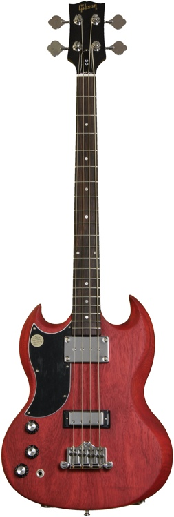 Gibson SG Bass Faded - Worn Cherry, Left Handed image 1