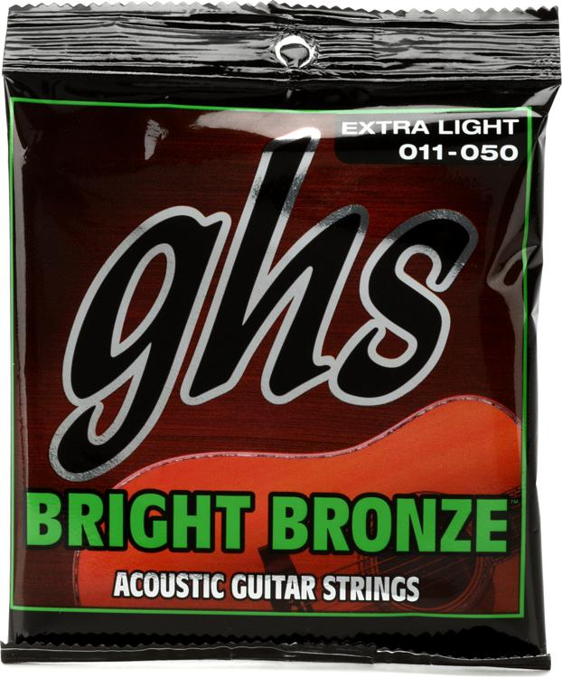 GHS BB20X Bright Bronze - 80/20 Bronze Extra Light Acoustic Guitar Strings image 1