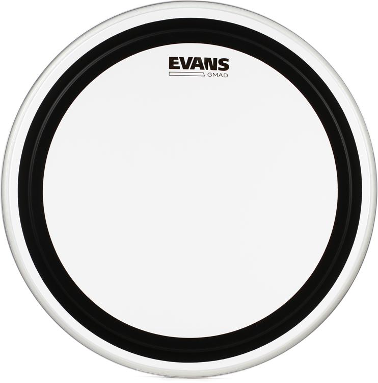 Evans GMAD Clear Drumhead with Damping System - 18