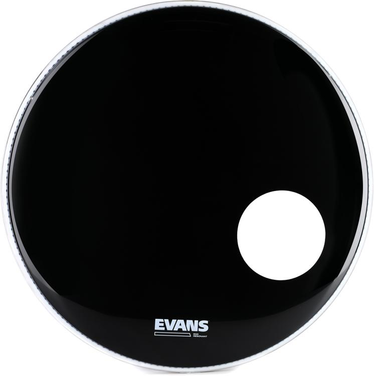 Evans EQ3 Black Resonant Bass Drum Head - 20