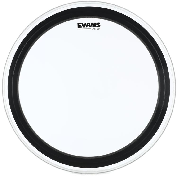 Evans GMAD Clear Drumhead with Damping System - 22