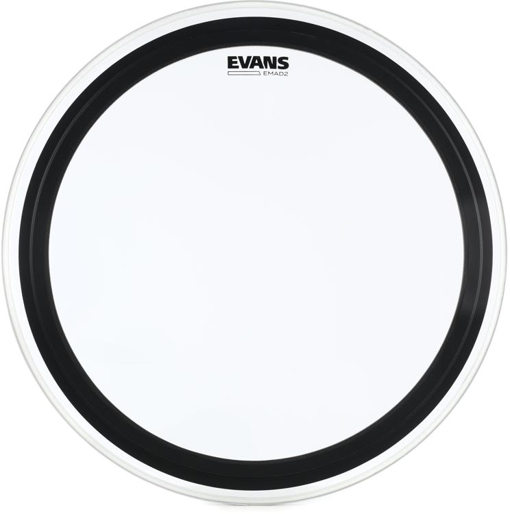Evans EMAD2 Clear Bass Batter Head - 24