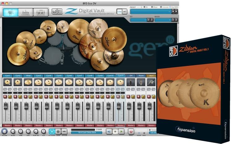 FXpansion BFD Zildjian Digital Vault Vol. 1 Expansion Pack image 1
