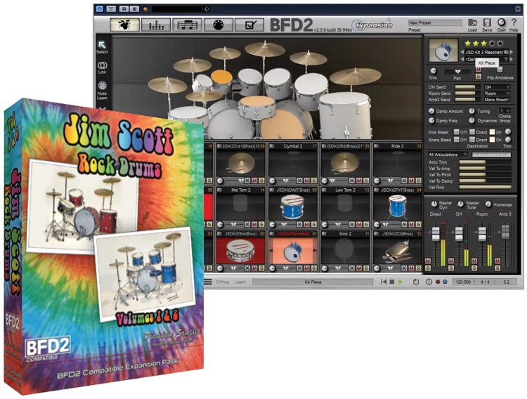 Platinum Samples Jim Scott Drums Volume 1 and 2 image 1
