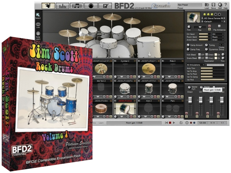 Platinum Samples Jim Scott Rock Drums Volume 1 image 1