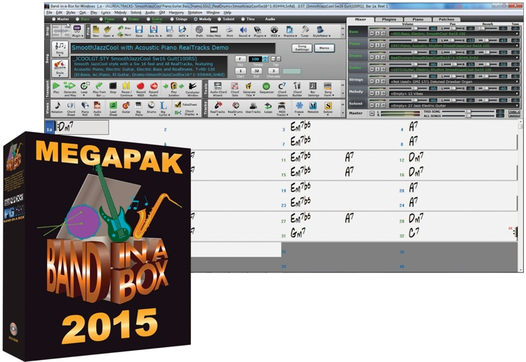 PG Music Band-In-A-Box MegaPAK for Windows - 5-User Academic Lab Pack (boxed) image 1