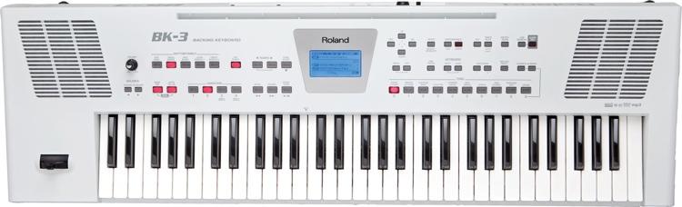 Roland BK-3 61-key Arranger - White image 1